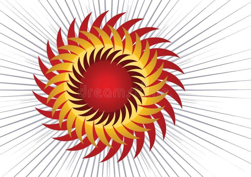 Vetor de Sun ilustração stock