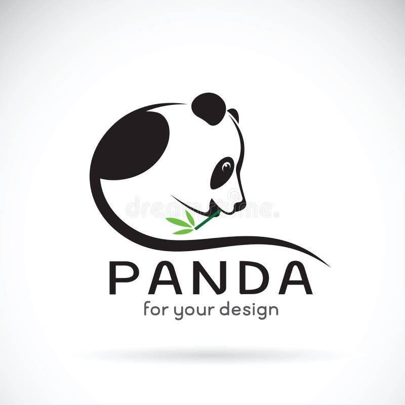 Vetor de um projeto da panda em um fundo branco ilustração do vetor
