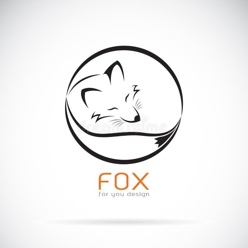 Vetor de um projeto da raposa no fundo branco Animais selvagens ilustração royalty free