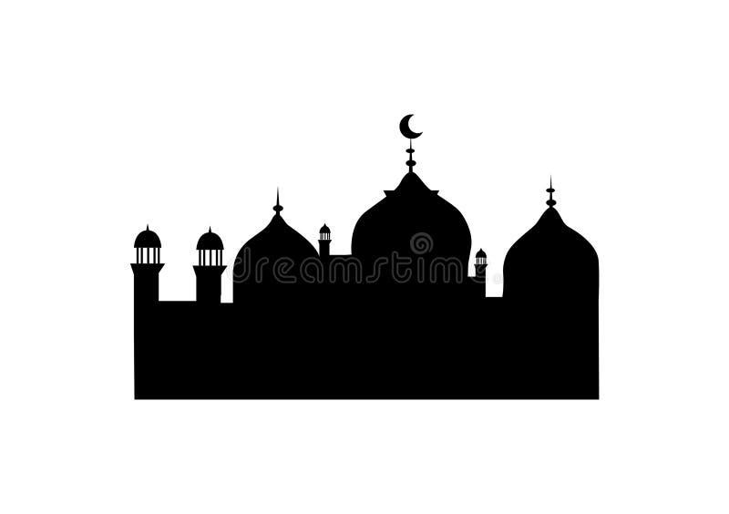 Vetor de uma mesquita para o uso ilustração do vetor
