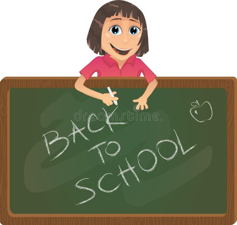 Vetor de volta à ilustração da escola
