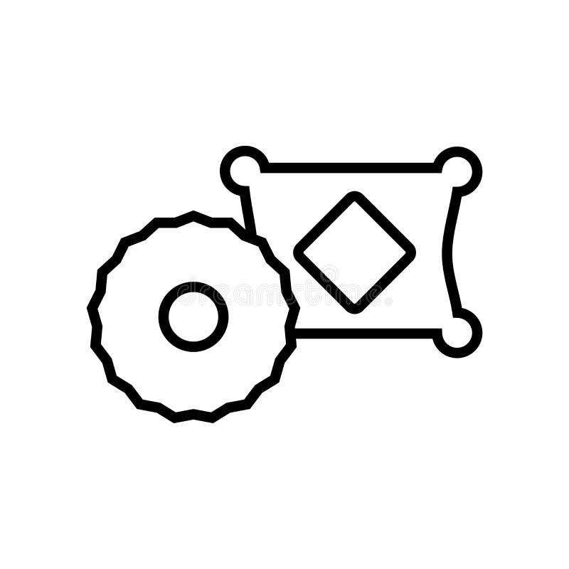 Vetor decorativo do ícone dos coxins isolado no fundo branco, De ilustração do vetor