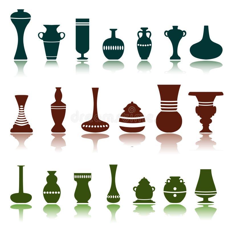 Vetor decorativo dos objetos ilustração stock