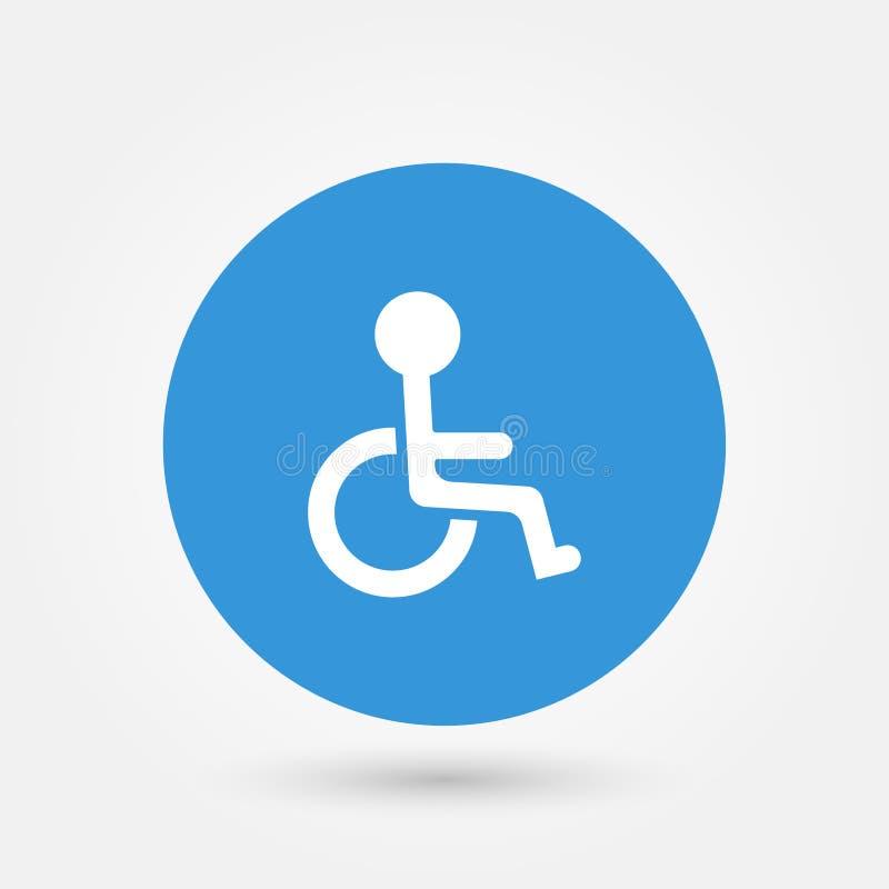 Vetor deficiente do símbolo da inutilização do ícone da cadeira de rodas do vetor conservado em estoque ilustração stock