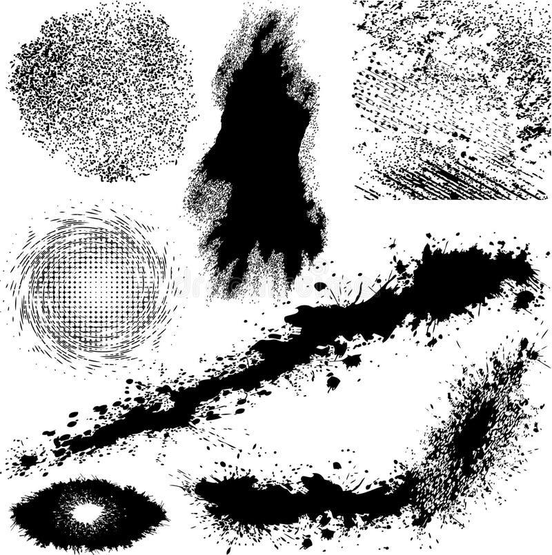 Vetor diferente dos elementos de Grunge ilustração do vetor