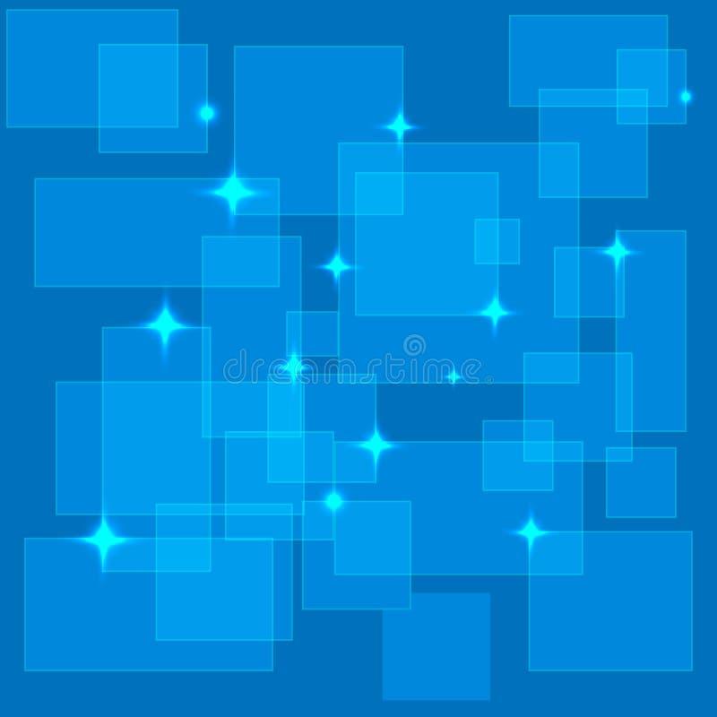 Vetor digital abstrato quadrado transparente azul do fundo ilustração do vetor