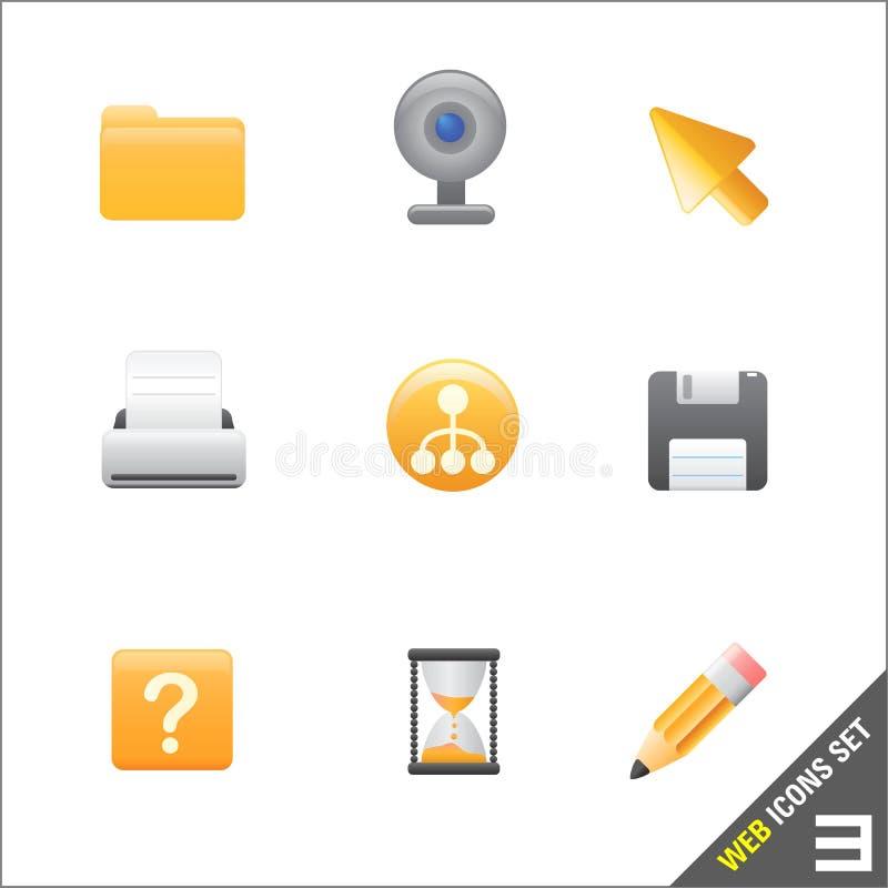 vetor do ícone 3 do Web ilustração royalty free