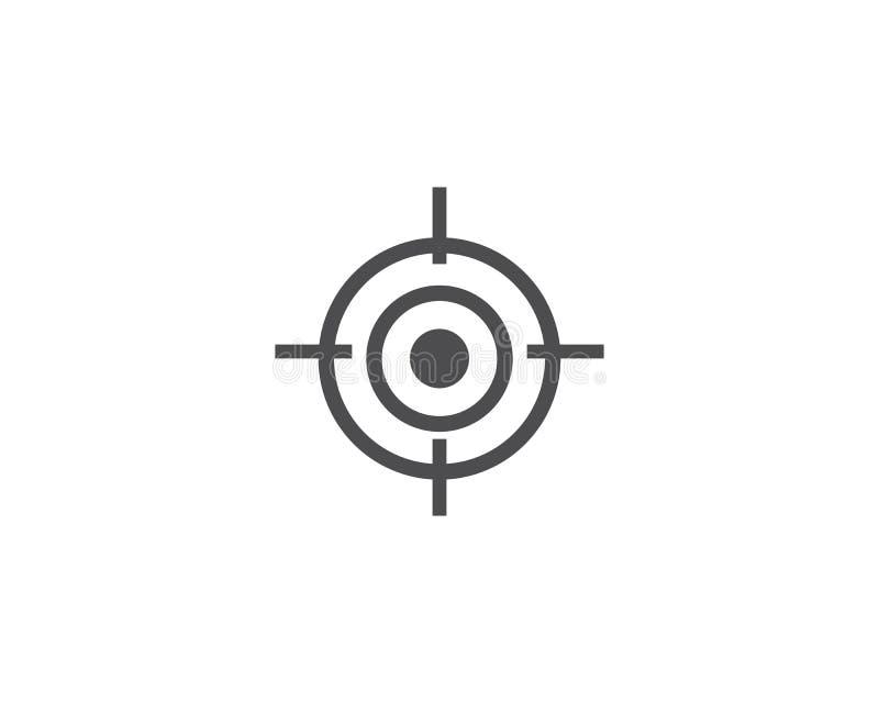 Vetor do ícone do alvo ilustração stock