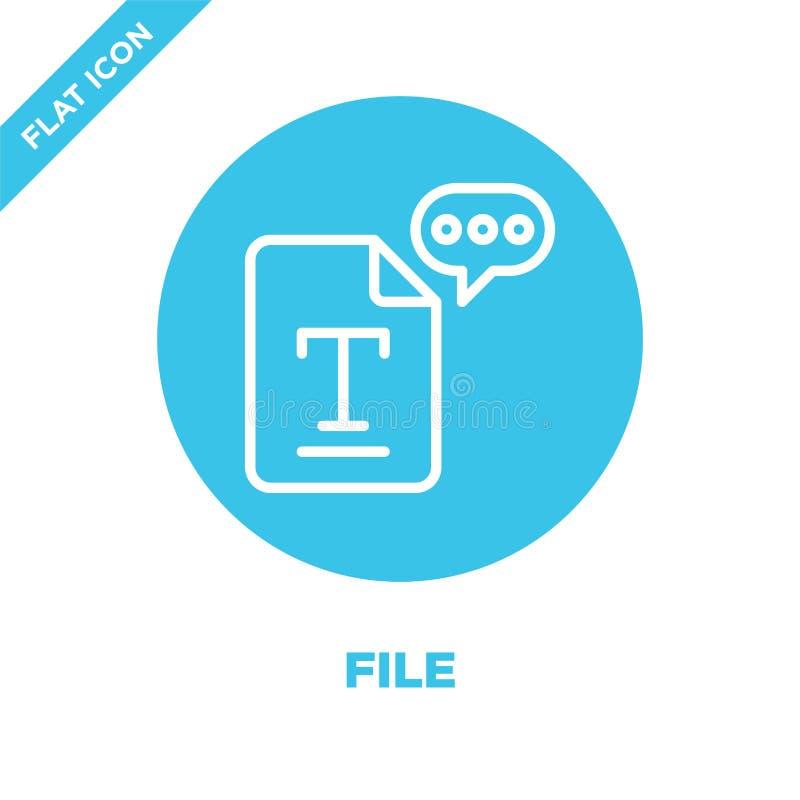 vetor do ícone do arquivo da coleção da acessibilidade Linha fina ilustração do vetor do ícone do esboço do arquivo Símbolo linea ilustração stock