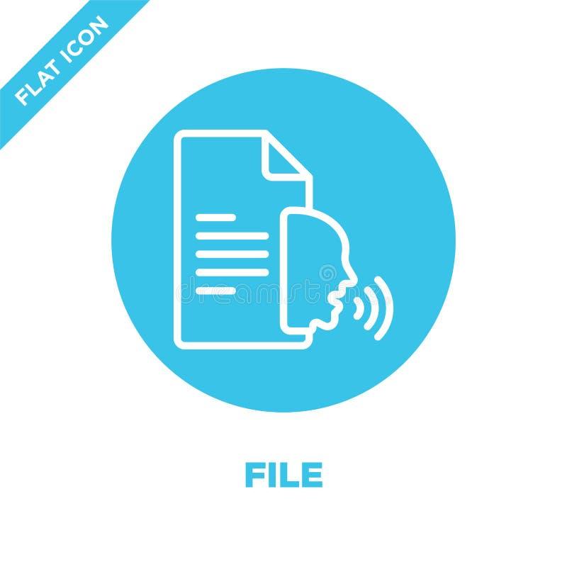 vetor do ícone do arquivo da coleção da acessibilidade Linha fina ilustração do vetor do ícone do esboço do arquivo Símbolo linea ilustração do vetor