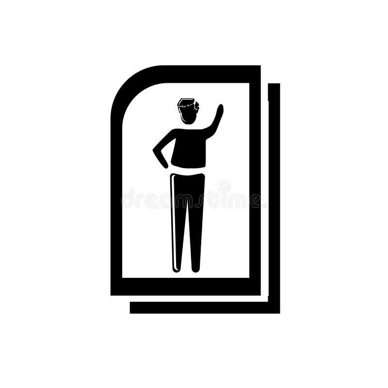 Vetor do ícone do arquivo da mulher isolado no fundo branco, sinal do arquivo da mulher, ilustrações do negócio ilustração royalty free