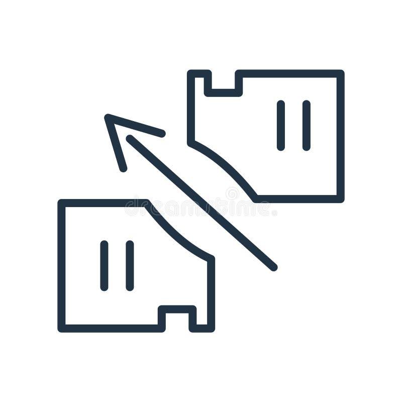 Vetor do ícone do arquivo isolado no fundo branco, no sinal do arquivo, na linha símbolo ou no projeto linear do elemento no esti ilustração royalty free