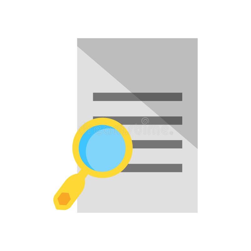 Vetor do ícone do arquivo isolado no fundo branco, sinal do arquivo, símbolos da pergunta ilustração stock