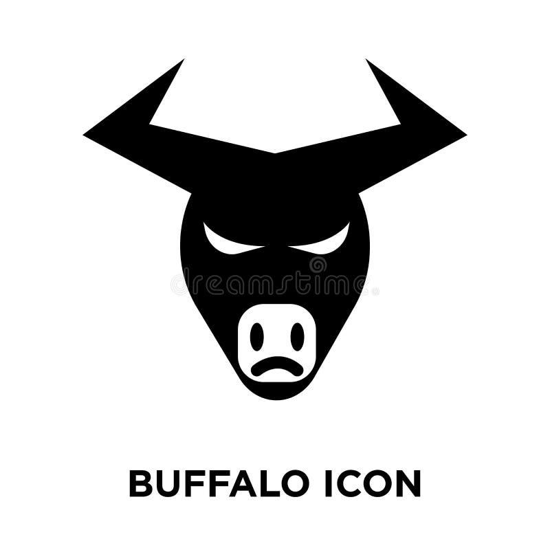 Vetor do ícone do búfalo isolado no fundo branco, conceito o do logotipo ilustração stock