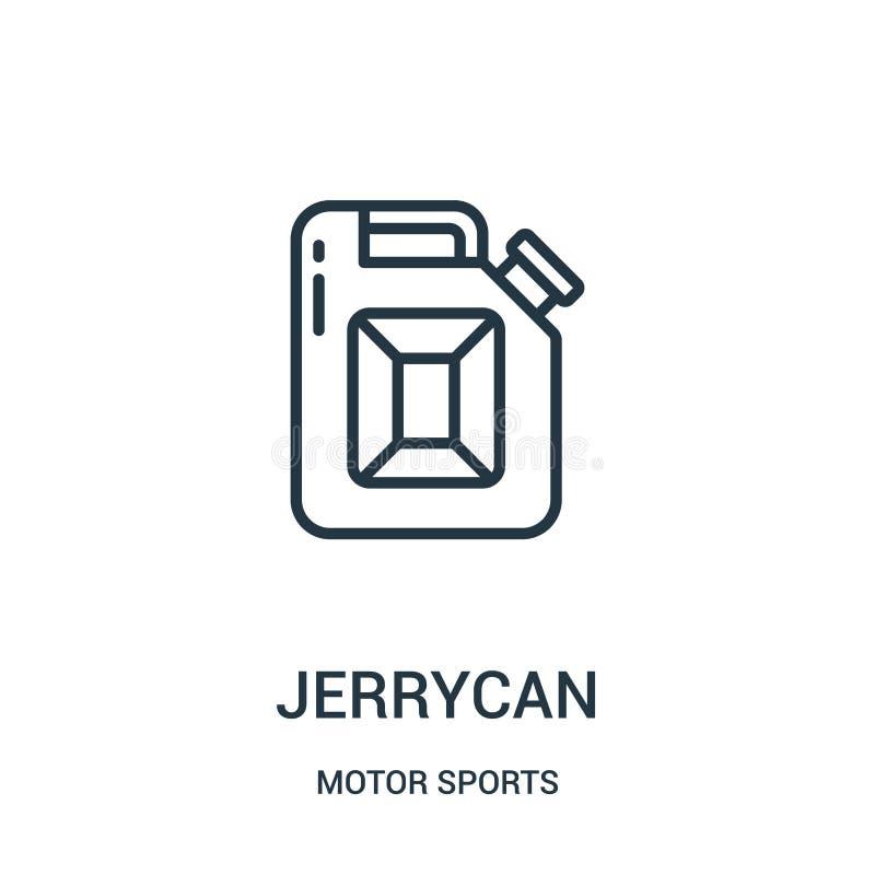 vetor do ícone do bidão da coleção dos esportes automóveis Linha fina ilustração do vetor do ícone do esboço do bidão S?mbolo lin ilustração stock