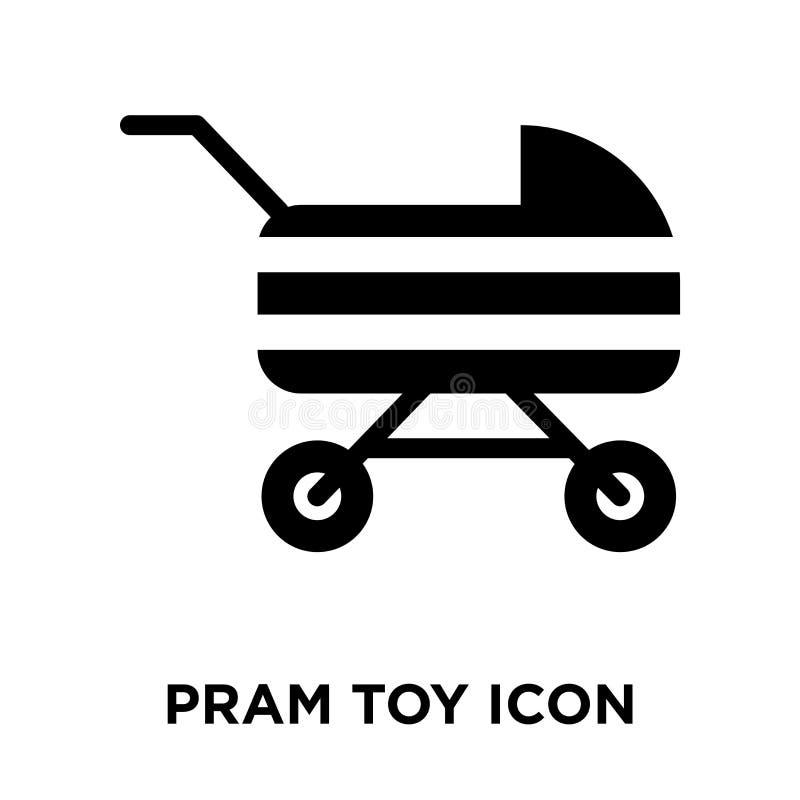 Vetor do ícone do brinquedo do Pram isolado no fundo branco, conceito do logotipo ilustração royalty free