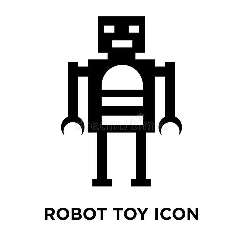 Vetor do ícone do brinquedo do robô isolado no fundo branco, conceito do logotipo ilustração royalty free