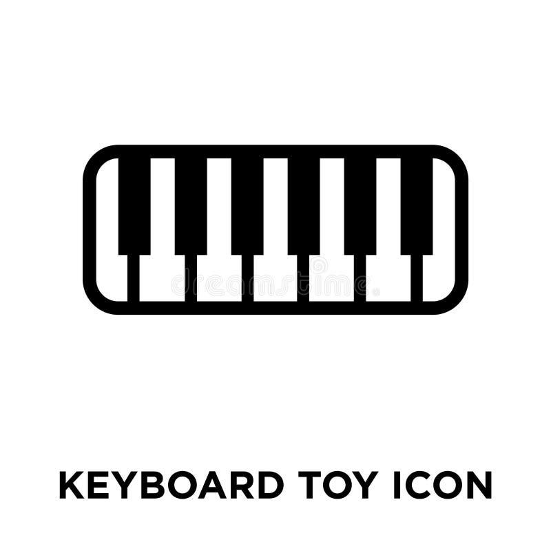 Vetor do ícone do brinquedo do teclado isolado no fundo branco, logotipo concentrado ilustração do vetor