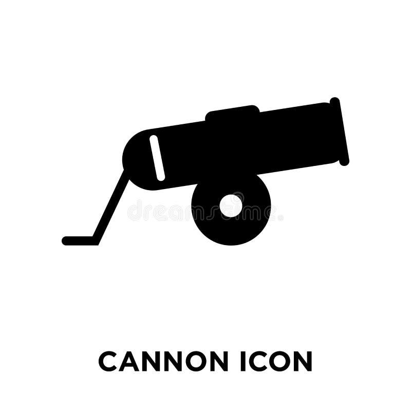 Vetor do ícone do canhão isolado no fundo branco, conceito do logotipo de ilustração do vetor