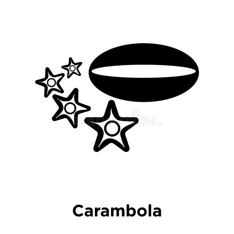 Vetor do ícone do Carambola isolado no fundo branco, conceito do logotipo ilustração royalty free