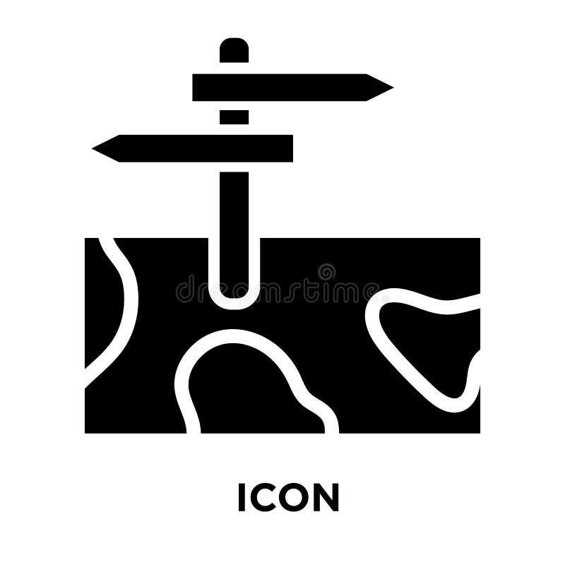 Vetor do ícone do cargo de sinal isolado no fundo branco, conceito do logotipo ilustração royalty free