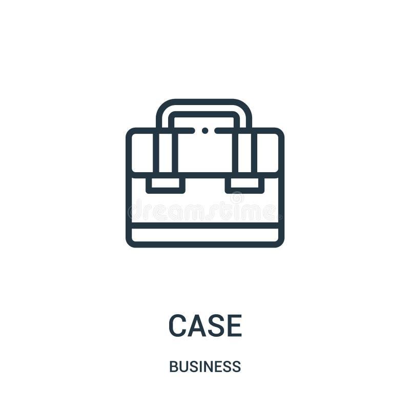 vetor do ícone do caso da coleção do negócio Linha fina ilustração do vetor do ícone do esboço do caso S?mbolo linear ilustração royalty free