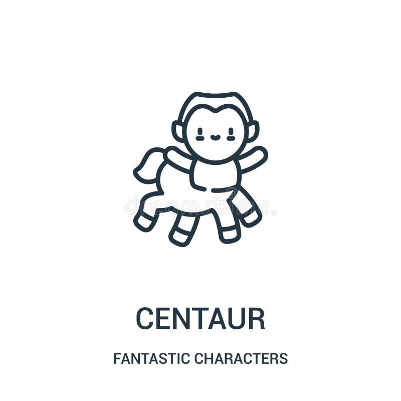 vetor do ícone do centauro da coleção fantástica dos caráteres Linha fina ilustração do vetor do ícone do esboço do centauro ilustração royalty free