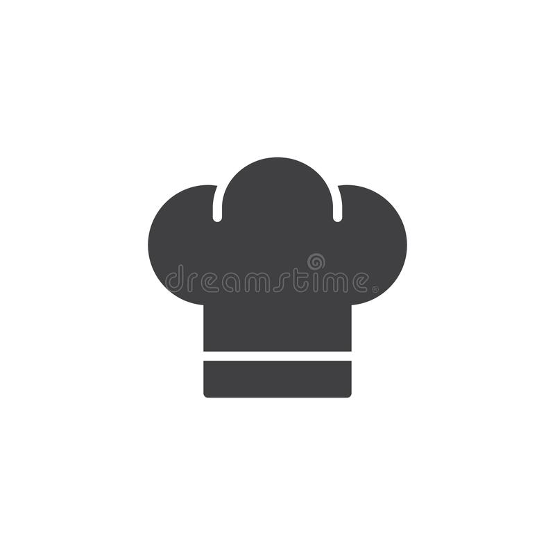 Vetor do ícone do chapéu do cozinheiro chefe ilustração royalty free