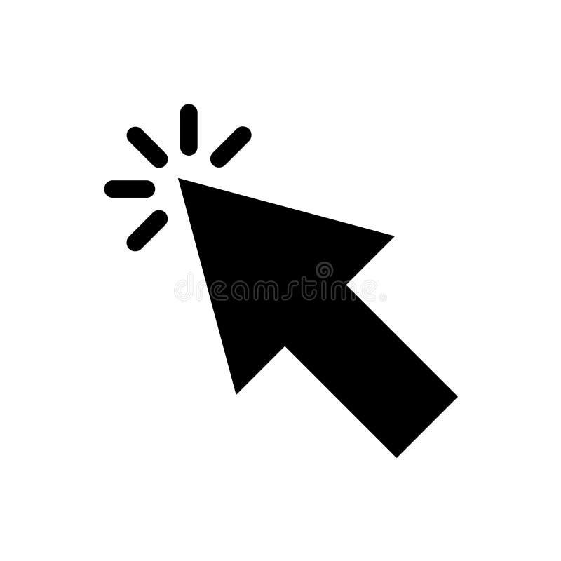 Vetor do ícone do clique para o projeto gráfico, logotipo, site, meio social, app móvel, ui ilustração royalty free