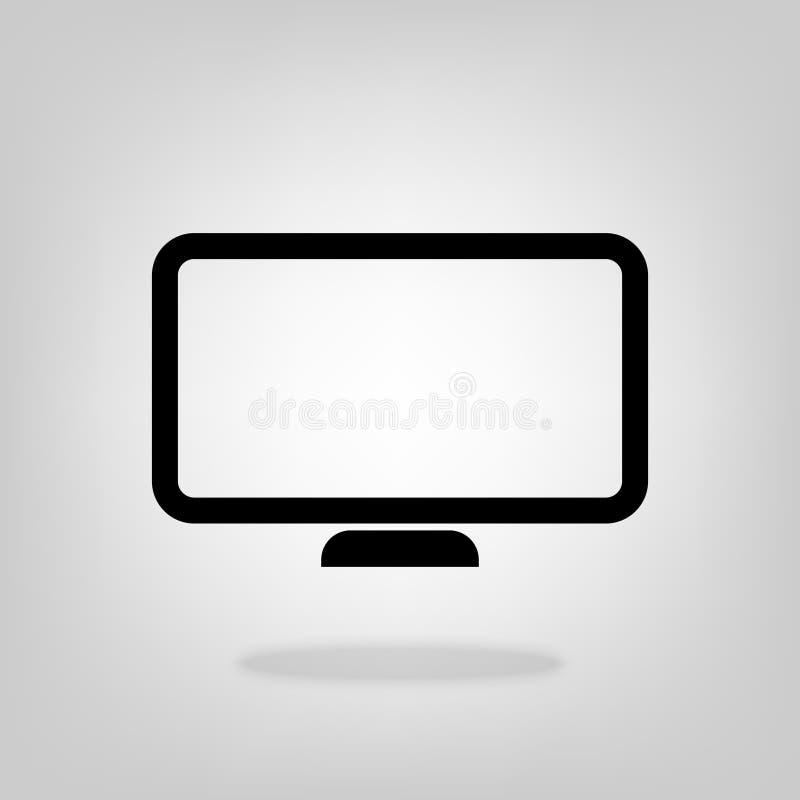 Vetor do ícone do computador do monitor do PC para o projeto gráfico, logotipo, site, meio social, app móvel, ilustração do ui ilustração royalty free