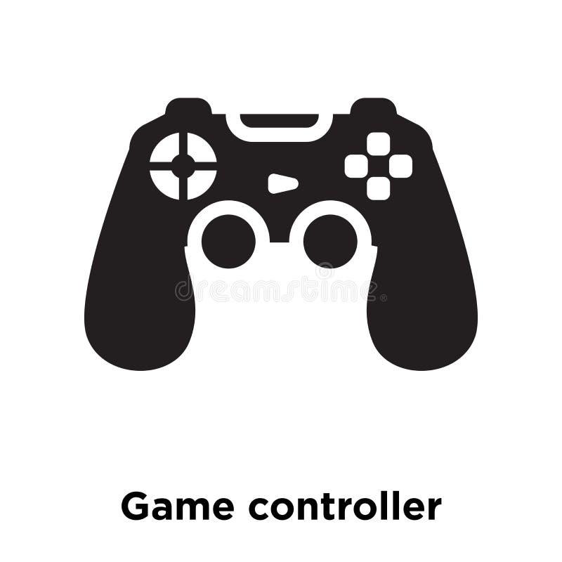 Vetor do ícone do controlador do jogo isolado no fundo branco, logotipo c ilustração do vetor