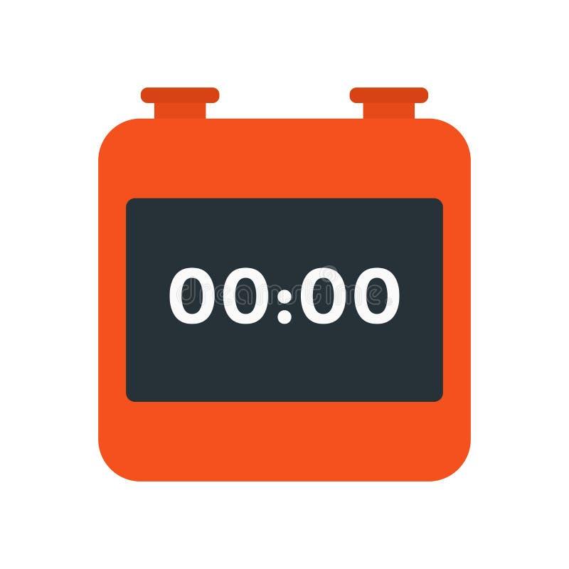 Vetor do ícone do cronômetro isolado no fundo branco, si do cronômetro ilustração stock
