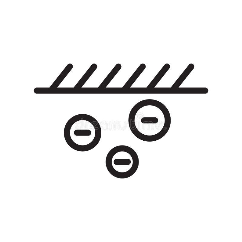 Vetor do ícone do cultivo isolado no fundo branco, no sinal do cultivo, na linha símbolo ou no projeto linear do elemento no esti ilustração stock
