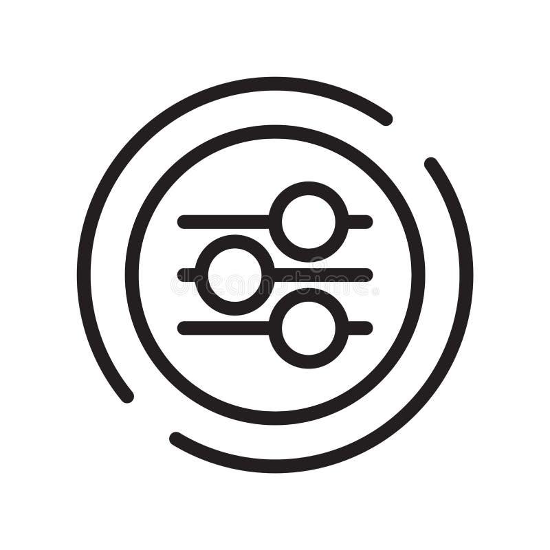 Vetor do ícone do cultivo isolado no fundo branco, no sinal do cultivo, na linha símbolo ou no projeto linear do elemento no esti ilustração royalty free