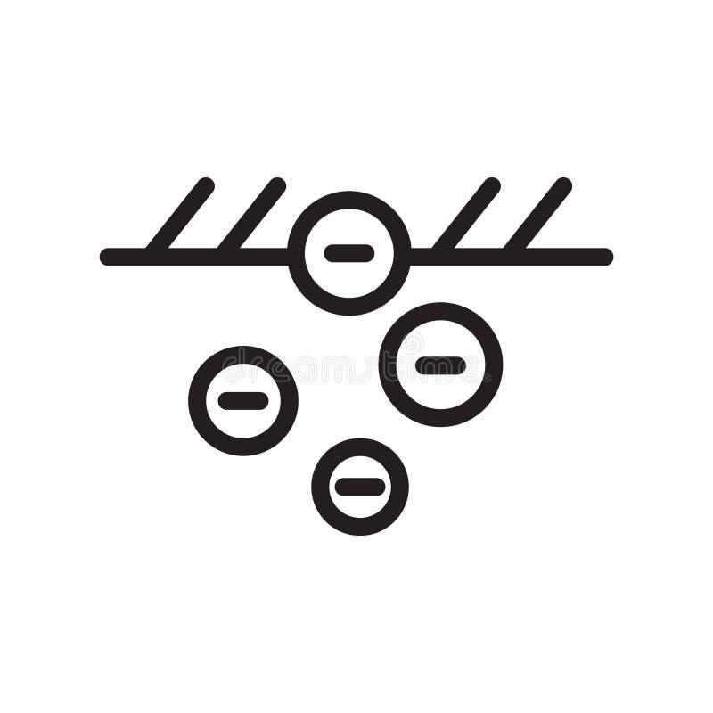 Vetor do ícone do cultivo isolado no fundo branco, no sinal do cultivo, na linha símbolo ou no projeto linear do elemento no esti ilustração do vetor