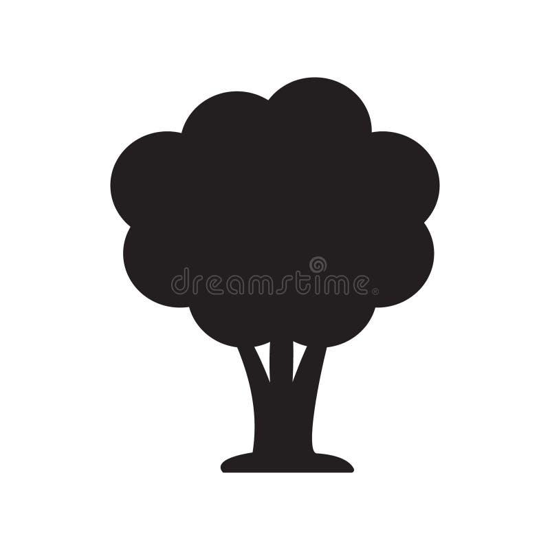 Vetor do ícone da árvore ilustração stock