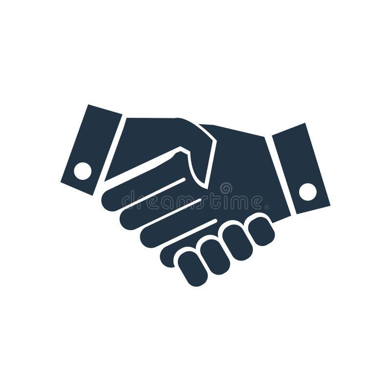 vetor do ícone da agitação da mão isolado no fundo branco, sinal da agitação da mão ilustração stock