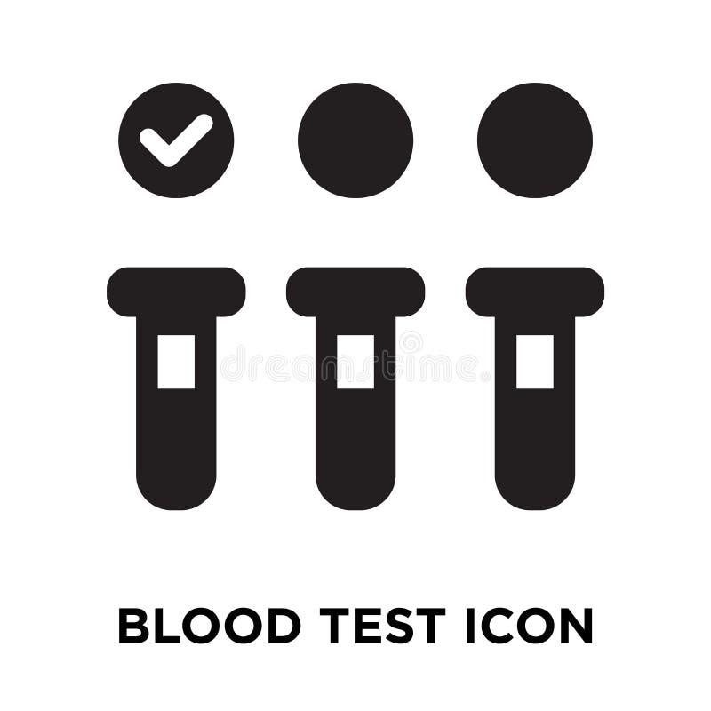 Vetor do ícone da análise de sangue isolado no fundo branco, concep do logotipo ilustração royalty free