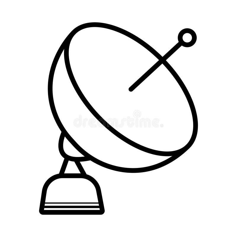 Vetor do ícone da antena ilustração stock