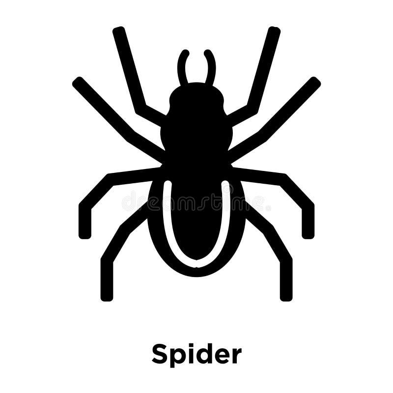 Vetor do ícone da aranha isolado no fundo branco, conceito do logotipo de ilustração do vetor
