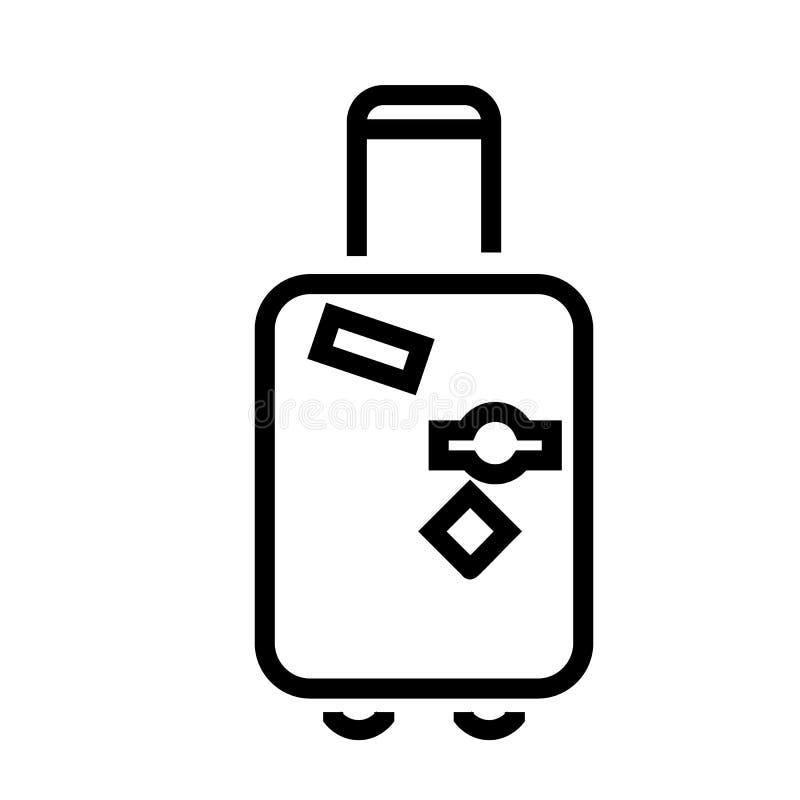 Vetor do ícone da bagagem ilustração royalty free