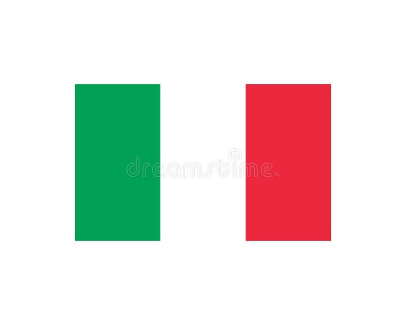 vetor do ?cone da bandeira de italia ilustração do vetor