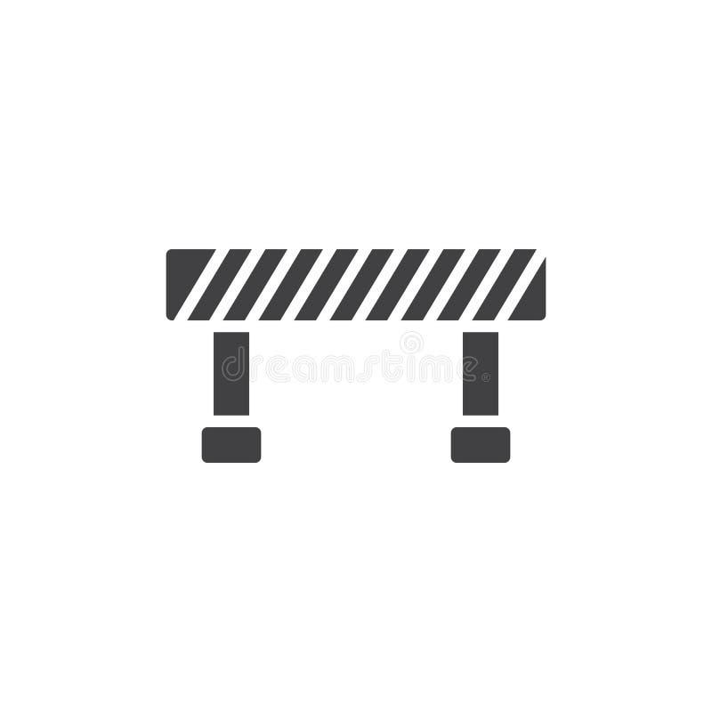Vetor do ícone da barreira ilustração royalty free