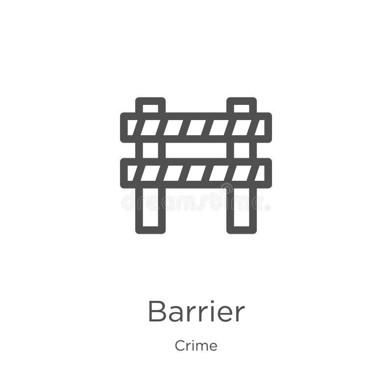 vetor do ícone da barreira da coleção do crime Linha fina ilustra??o do vetor do ?cone do esbo?o da barreira Esboço, linha fina í ilustração do vetor