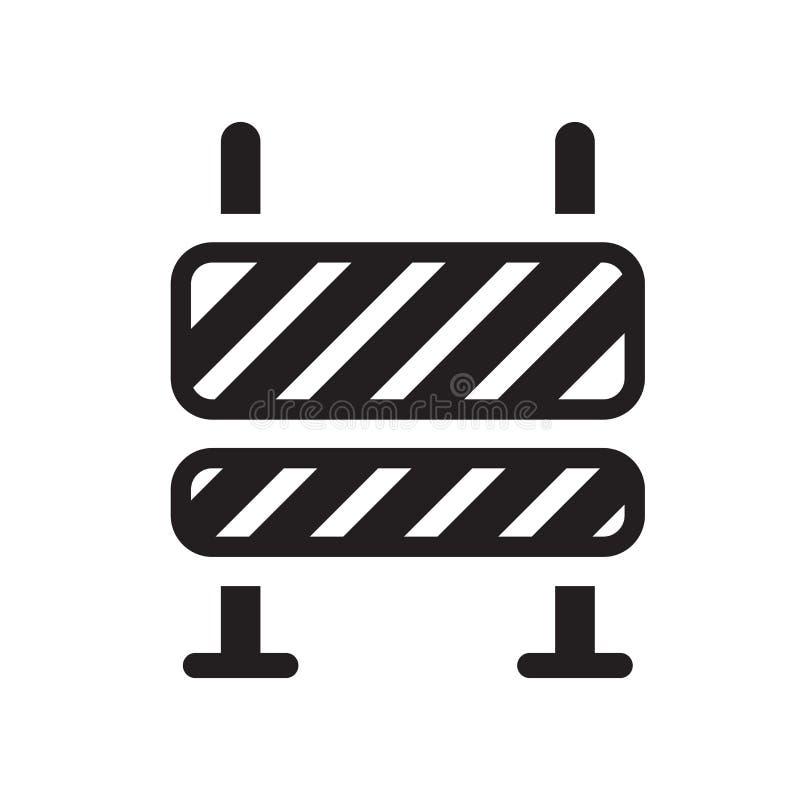 Vetor do ícone da barreira da estrada isolado no fundo branco, estrada Barr ilustração royalty free