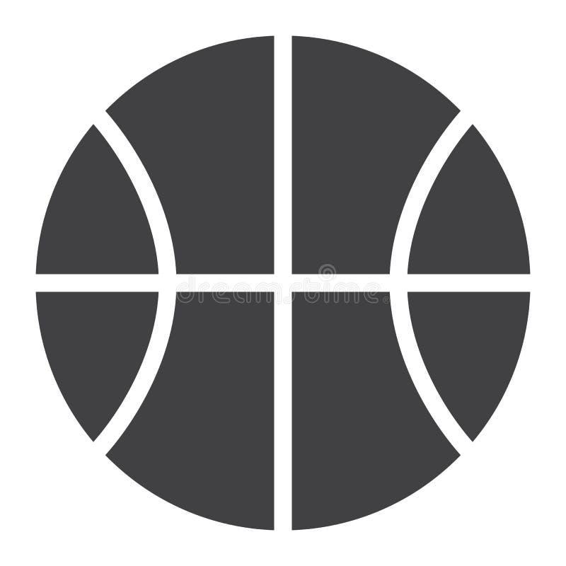 Vetor do ícone da bola do basquetebol ilustração do vetor