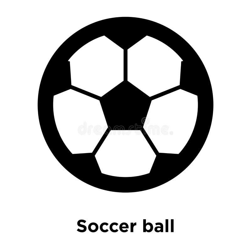 Vetor do ícone da bola de futebol isolado no fundo branco, conce do logotipo ilustração do vetor