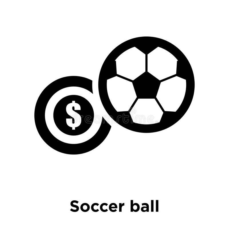 Vetor do ícone da bola de futebol isolado no fundo branco, conce do logotipo ilustração royalty free