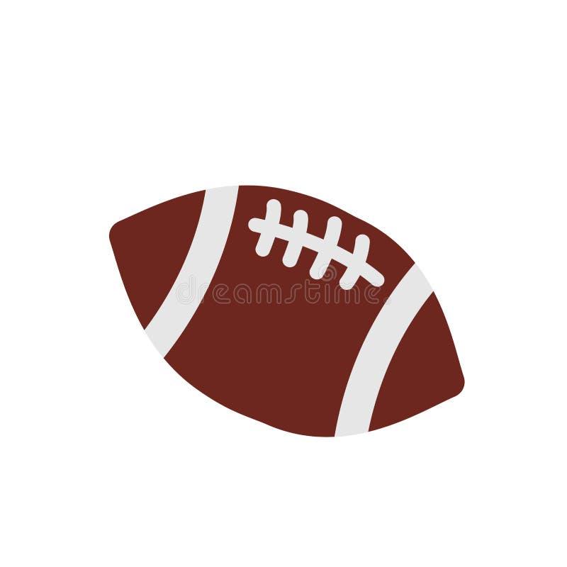 Vetor do ícone da bola do futebol americano ilustração royalty free