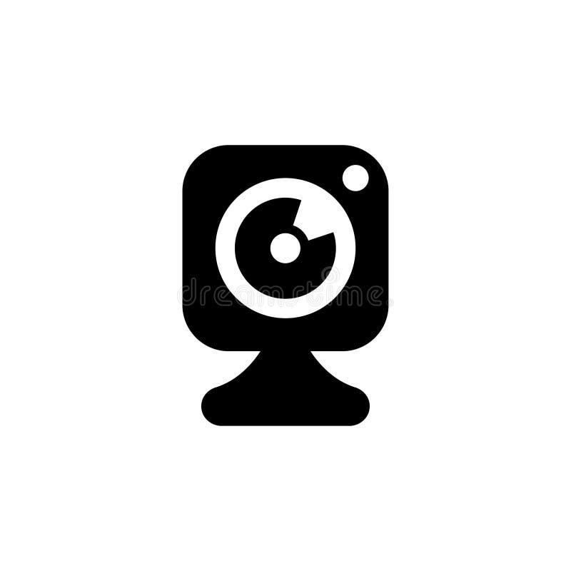 Vetor do ícone do vetor da câmara web ilustração stock
